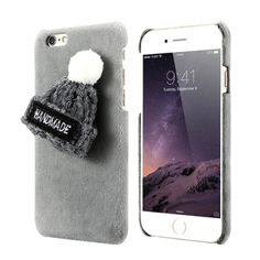 Fashion Case For iPhone 8 7 Plus 6 Plus Winter Plush Knitted Hat Cases For iPhone 5 SE Phone Shells Iphone 8 Plus, Iphone 7 Size, Christmas Cover, Christmas Hat, Cute Cases, Cute Phone Cases, Iphone 5s Covers, Iphone Cases, Girly Gifts