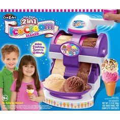 Make your own ice cream at home! The Cra-Z-Art Real ice cream maker if the fun way to make ice cream at home in just under 10 minutes. Kids Ice Cream Maker, Make Ice Cream, Kids Makeup, Icecream Bar, Z Arts, Frozen Desserts, Toys For Girls, Kids Toys, Cool Toys