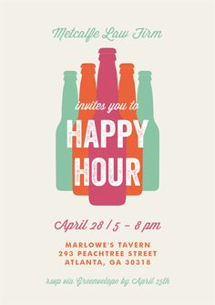 Bottled Happy Hour by Shari Margolin Design @Greenvelope