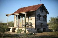 A Tiny Texas Houses Collection of Imaginative Salvage Building Pole Barn House Plans, Pole Barn Homes, Tiny House Plans, Tiny Texas Houses, Small Houses, Sister Home, Cabins And Cottages, Small Cabins, Tiny House Living