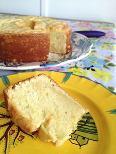 Grandma's Sour Cream-Almond Pound Cake from Contented Sparrow