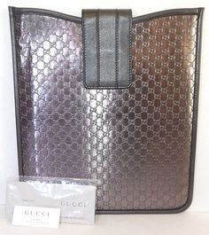 Gucci Smokey Gray Pewter Metallic Leather iPad Cover. Get the lowest price on Gucci Smokey Gray Pewter Metallic Leather iPad Cover and other fabulous designer clothing and accessories! Shop Tradesy now