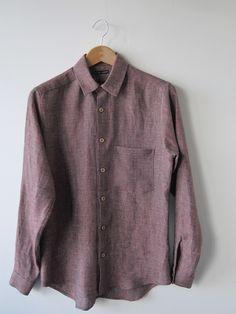 Frank Leder red linen shirt
