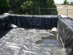 DIY Pool from stacks of hay...country swimming pool! lol Smart!