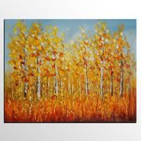 Autumn Landscape Painting, Original Painting, Canvas Wall Art, Large Canvas Art
