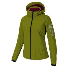 Beautiful CMP Softshell Functional Jacket Ziphoodie Brown Windproof Stretch Womens Coats Jackets from top store Soft Shell, Soft Fabrics, Hooded Jacket, Rain Jacket, Windbreaker, Zip, Hoodies, Stuff To Buy, Clothes