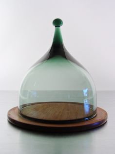 Denmark. Glass Cheese Bell, 1960s // by Benny Motzfeldt for Hadeland of Norway Glass