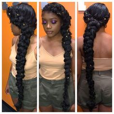 30 Butterfly Braid Styles Butterfly braids are very elegant, making them a popular choice for weddings and special occasions. Take a look at these 30 stunning butterfly braid styles. Ponytail Hairstyles, Weave Hairstyles, Wedding Hairstyles, Hairstyle Ideas, Protective Hairstyles, Hairstyle Braid, Braided Mohawk, Blonde Hairstyles, Bandana Hairstyles