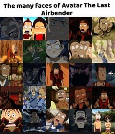 The many faces of Avatar The Last Airbender - )