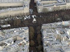 Les incroyables photos aériennes de la marche républicaine à Paris
