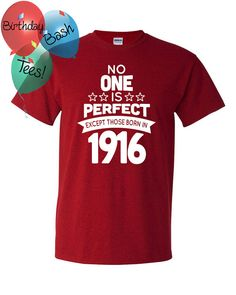100 Year Old Birthday Shirt No One is Perfect by BirthdayBashTees