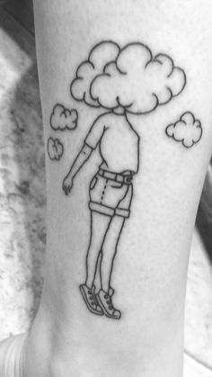 Tattoos by Little Frank Oakwood Tattoo Decatur Il Head in the clouds