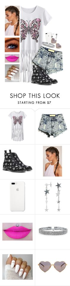 """""""💗 Cutie 💗"""" by itsatra ❤ liked on Polyvore featuring Yves Saint Laurent, Branca, Anna + Nina, Bling Jewelry, Wildfox, Pink, coachella, tassels, 2017 and ItsAtra"""