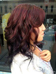 by ursiola - Photobucket. Morgan's red and violet highlights.
