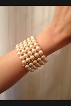 Swarovski Glass Pearl Bracelet via Etsy