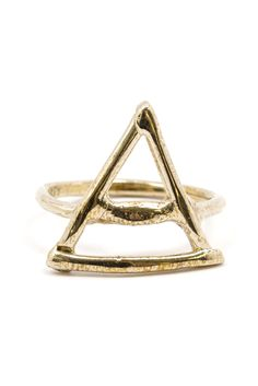 The Palmistry Triangle Ring is inspired by traditional palmistry symbols. Palmistry or chiromancy is the art of characterization and foretelling the future through the study of the palm. Choose your o