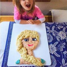 """""""Frozen"""" + giant Rice Krispies treat = every child's dream come true. - Mom.me"""