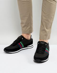 Get this Ps By Paul Smith's sneakers now! Click for more details. Worldwide shipping. PS by Paul Smith Svenson Runner Stripe Trainers in Black - Black: Trainers by PS By Paul Smith, Breathable mesh upper, Faux-suede overlays, Lace-up fastening, Branded tongue and cuff, PS logo, Padded for comfort, Chunky sole, Moulded tread, Wipe with a soft cloth, 100% Nylon Upper. Designed in the UK, PS by Paul Smith bears all the hallmarks of Sir Paul Smith�s individual and quintessentially British…