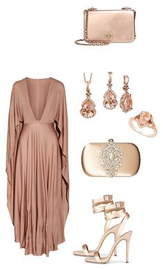 """Elegance & Beauty Night"" by taniaisabel-1 on Polyvore featuring Valentino, Badgley Mischka, Tory Burch and LE VIAN"
