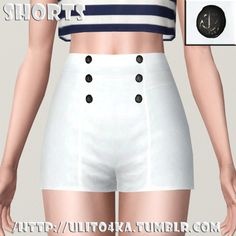 The Killing Moon - ulito4ka: Shorts with 3D buttons. Download