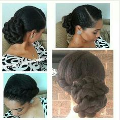 Natural hair wedding style