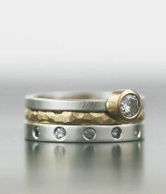 rings and stones.