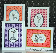 "Set of cards using ""Making Spirits Bright"" by Stampin' Up!  Includes video tutorial.:"