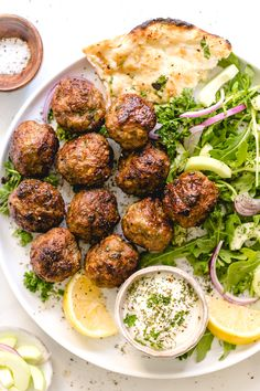 Jump to Recipe Print RecipeThese flavor-packed lamb meatballs are made in 20 minutes using the broiler, ground lamb, and fresh . Ground Lamb Recipes, Recipe For Ground Lamb, Greek Meatballs, Jelly Meatballs, Clean Eating, Lamb Dishes, Cooking Recipes, Healthy Recipes, Easy Lamb Recipes