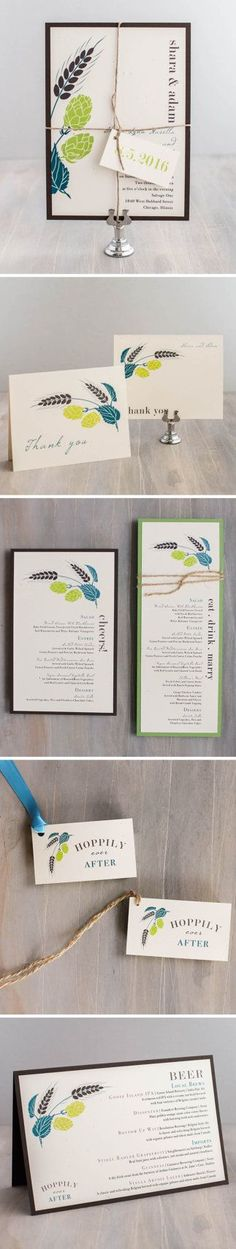 Brewery/Beer Wedding Invitations Modern Chic Brewery by BeaconLane Come and see our new website at bakedcomfortfood.com!