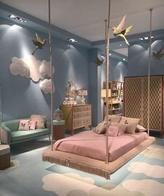 Cute Bedroom Design Ideas For Kids And Playful Spirits teenager zimmer mädchen schmetterlinge wand deko Cute Bedroom Ideas, Girl Bedroom Designs, Awesome Bedrooms, Bedroom Themes, Bed Designs, Kids Bedroom Ideas For Girls, Girs Bedroom Ideas, Nursery Ideas, Room Kids