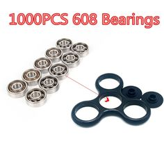 428.98$  Buy now - http://alin65.shopchina.info/1/go.php?t=32811370295 - 1000Pcs Super Fast 608 Bearing For hand spinners fidget toys tri-spinner fidget spinner glow in the dark batman spiner  #aliexpress