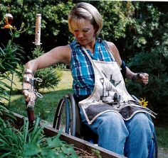 "‎""I am wheelchair bound, so it can be hard to use all my tools. To help make using them easier, I took my good, trusty hand trowel and taped a wooden handle to it. That way, I could use it better. It makes planting plants very easy. I also purchase children-sized garden tools with short handles to dig, rake and weed. I can still have all my gardens this way."" ~ Club Member Sally Haider from Lacey, Washington"