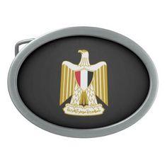 Egyptian coat of arms Belt Buckle Oval Belt Buckle