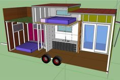 tiny house on wheels... from the tiny house blog