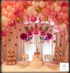 Balloon Arch, Balloons, Unicorn Baby Shower, Unicorn Birthday, Dessert Table, Party Themes, Diva, Projects To Try, Crafty
