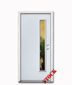1 Lite Half Clear Glass Steel Exterior Door 6 8 Darpet Interior Doors For Chicago Builders