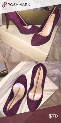 Maroon heels Super comfortable pair of maroon heels worn for two hours. I don't go out much so I have no use for them LC Shoes Heels