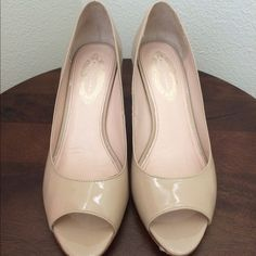 """Elie Tahari Heels Great condition small scuff on the back by the heel on both shoes. Nude color, 2 3/4"""" heel. Elie Tahari Shoes Heels"""