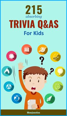 "215 Easy Trivia Questions For Kids With Answers Were you ever woken up in the middle of the night to answer ""Why doesn& the dog wear pants?"" Well, you can never know what your kid might ask you. Family Trivia Questions, Question And Answer Games, Kids Questions, Quiz Questions And Answers, This Or That Questions, Science Questions For Kids, Have You Ever Questions, Quiz With Answers, Trivia Quiz"