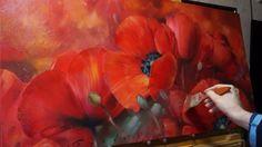 """Мак"" Олег Буйко. Масляная живопись. Oil painting."