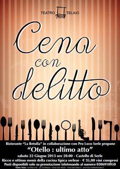 Cena con Delitto a Serle http://www.panesalamina.com/2013/11839-cena-con-delitto-a-serle.html