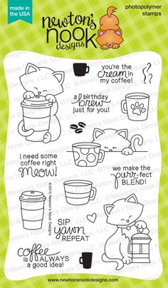 Newton Loves Coffee - Newton's Nook Designs