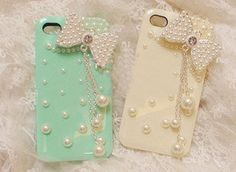 iphone 4 case cute iPhone 4 case bow pearl by iPhoneCasesFancylucy, $9.98