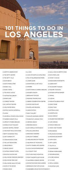 The ultimate Los Angeles Bucket List activities in LA - Reisetipps - Travel Voyage Usa, Voyage New York, Voyage Europe, New Travel, Travel List, Travel Packing, Packing Lists, Travel Europe, Travel Hacks