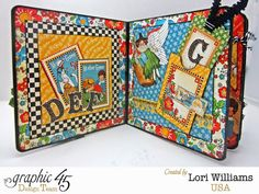 A Mother Goose Tale ABC Book with Graphic 45  - Created by Lori Williams of Pinkcloud Scrappers