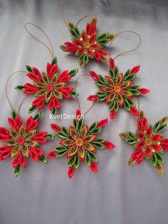Best 10 – Salvabrani – Salvabrani – Page 420382946465996281 – SkillOfKing.Com - Her Crochet Diy Christmas Ribbon, Quilling Christmas, Christmas Ornament Crafts, Christmas Crafts, Ribbon Art, Ribbon Crafts, Diy Crafts, Poinsettia Flower, Fabric Ornaments