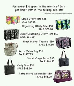 Thirty-One :) on Pinterest | Large Utility Tote, Thirty One and ...