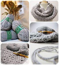 ¿Estas buscando un tutorial para hacer un cuello de lana tejido con la técnica de crochet o ganchillos? Este es tu sitio. ¡Te quedará genial!