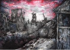 N°1 Réalisation de Nicolas « Red Heaven City » http://www.graphit-marker.com/blog/gagnants-concours-graphit/