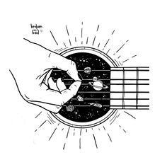 """Rad illustration by if you would like to be featured"""" Music Drawings, Drawing Sketches, Tattoo Drawings, Art Drawings, Galaxy Drawings, Abstract Sketches, Space Drawings, Unique Drawings, Drawing Quotes"""